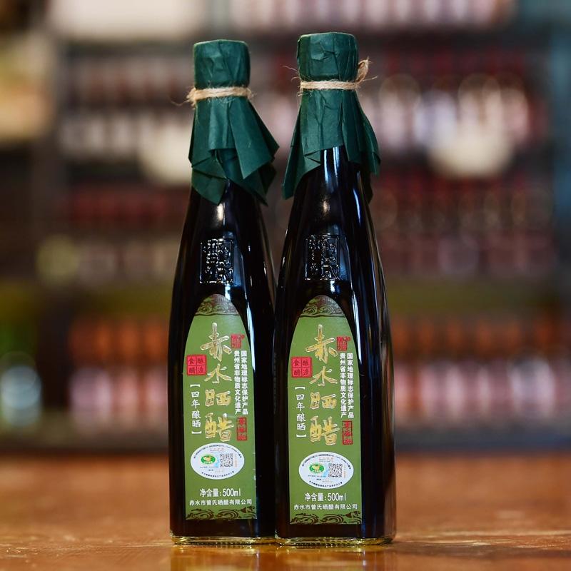 广东四年晒醋 零添加 500ml 单瓶